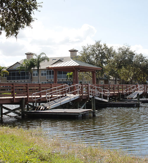 Fishing Pier And Boat Docks For Canoeing Or Kayaking.